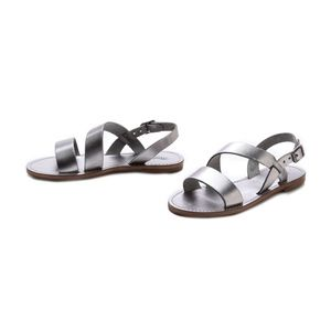 MADEWELL Metallic Slingback Sightseer Sandals